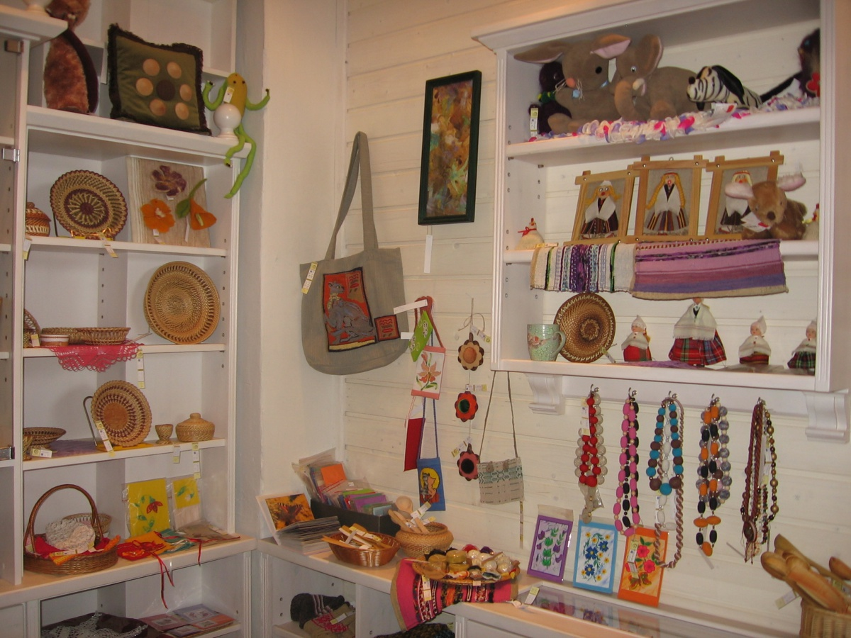 Saulgriezs is a crafts shop  in Central market